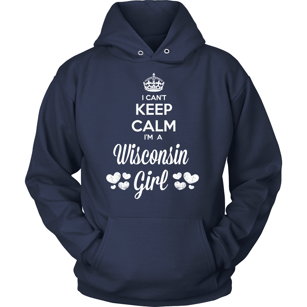 Wisconsin T-Shirt Design - Can't Keep Calm Wisconsin Girl