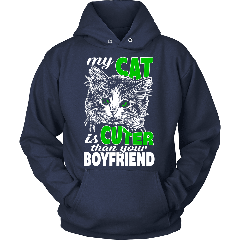Cat T-Shirt Design - Cuter Than Your Boyfriend