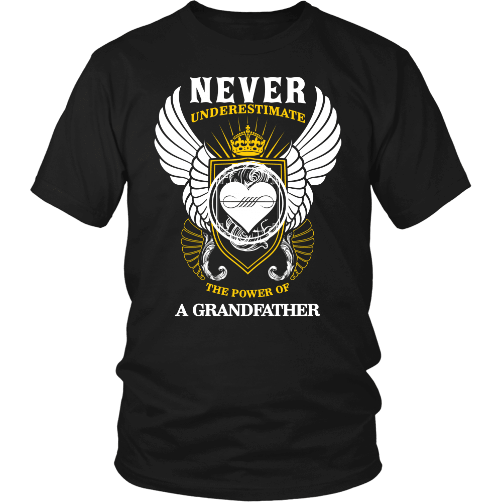 Grandparent T-Shirt Design - The Power Of A Grandfather