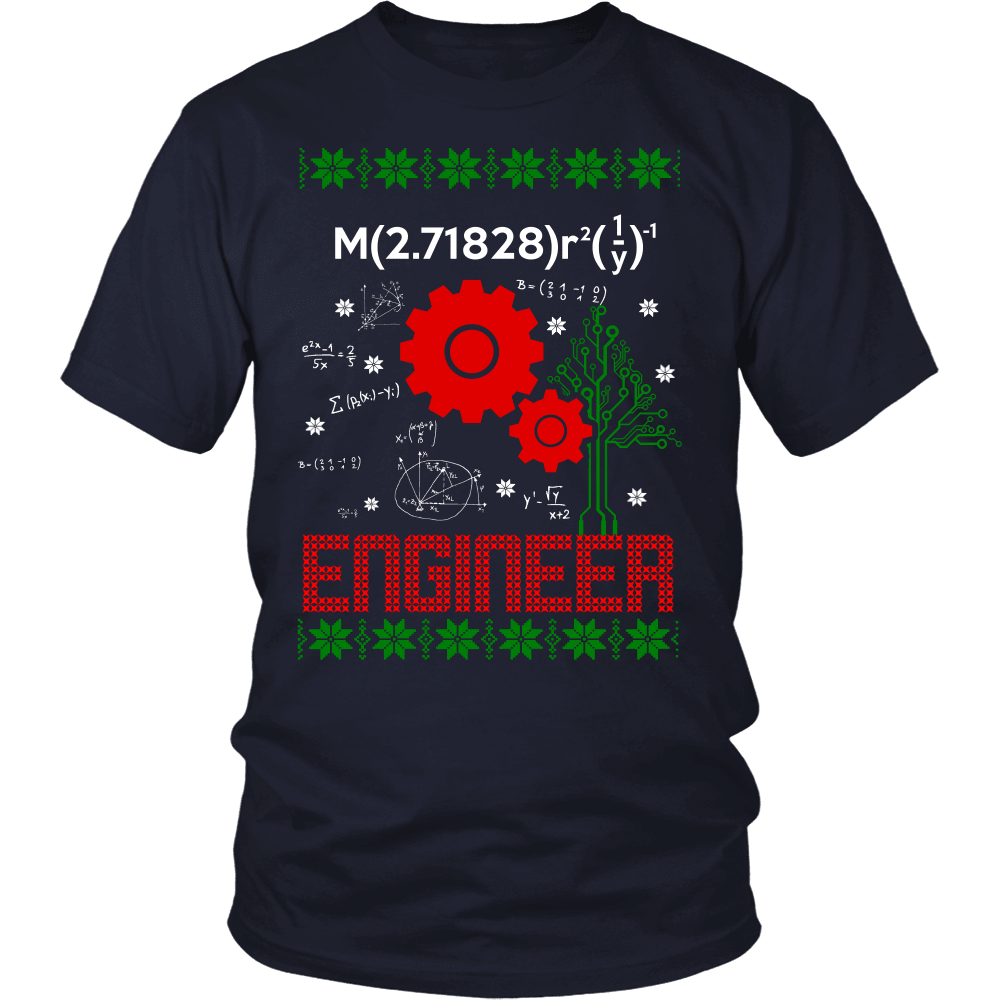 Christmas Engineer T-Shirt Design