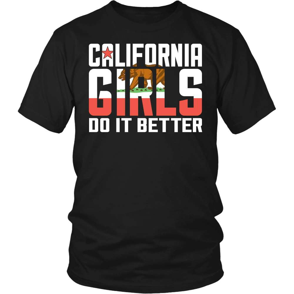 California T-Shirt Design - California Girls Do It Better