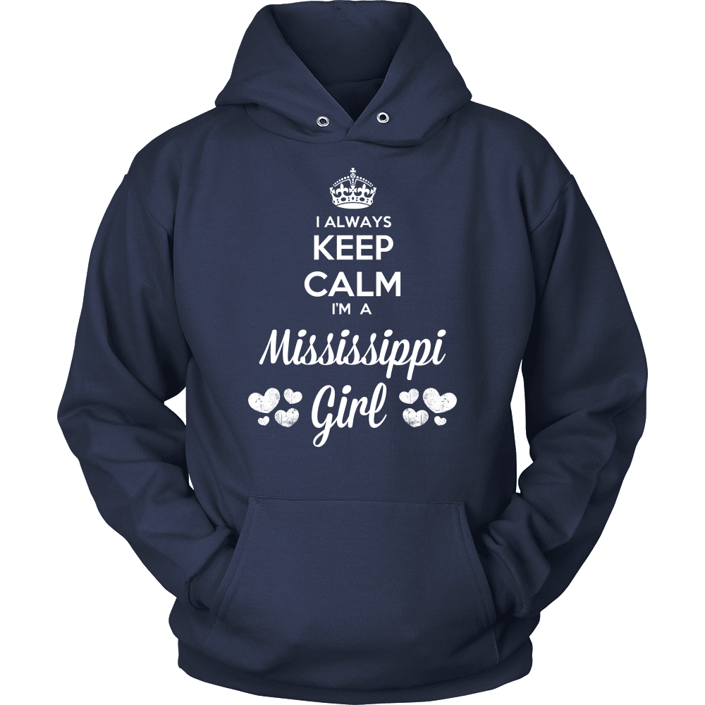 Mississippi T-Shirt Design - Keep Calm I'm A Mississippi Girl