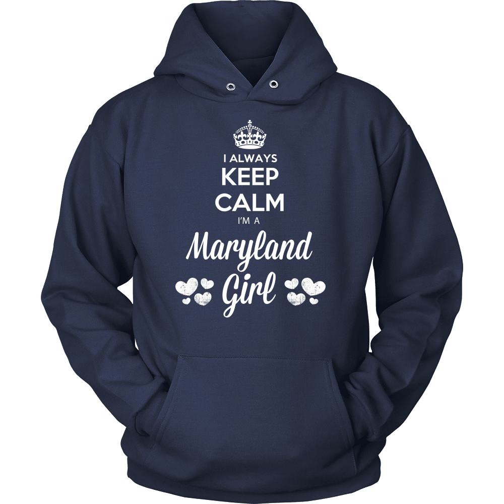 Maryland T-Shirt Design - Keep Calm I'm A Maryland Girl