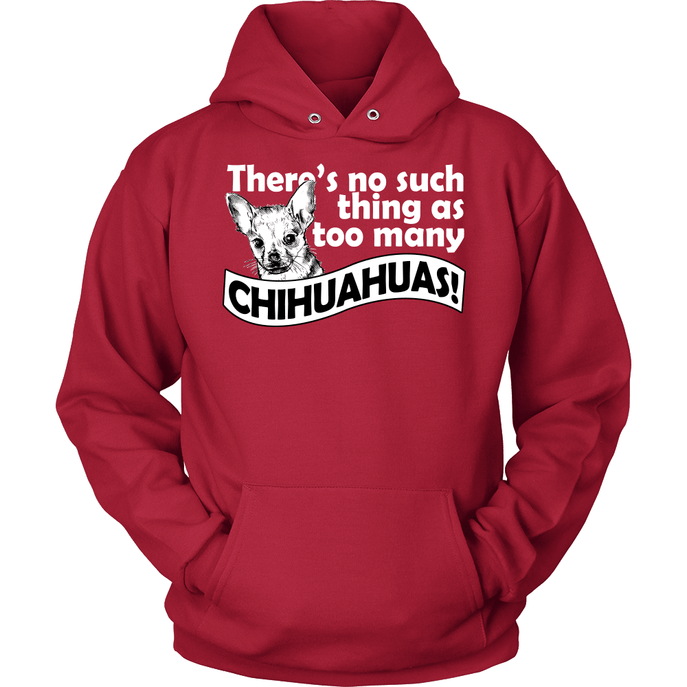 Chihuahua T-Shirt Design - Too Many Chihuahuas