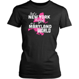 New York T-Shirt Design - New York Girl Maryland World