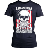 Gun T-Shirt Design - I Have The Right To Bear Arms!