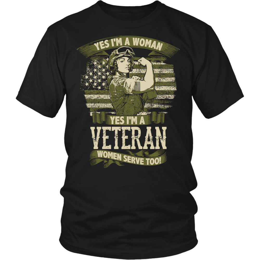 Veteran T-Shirt Design - Women Serve Too!