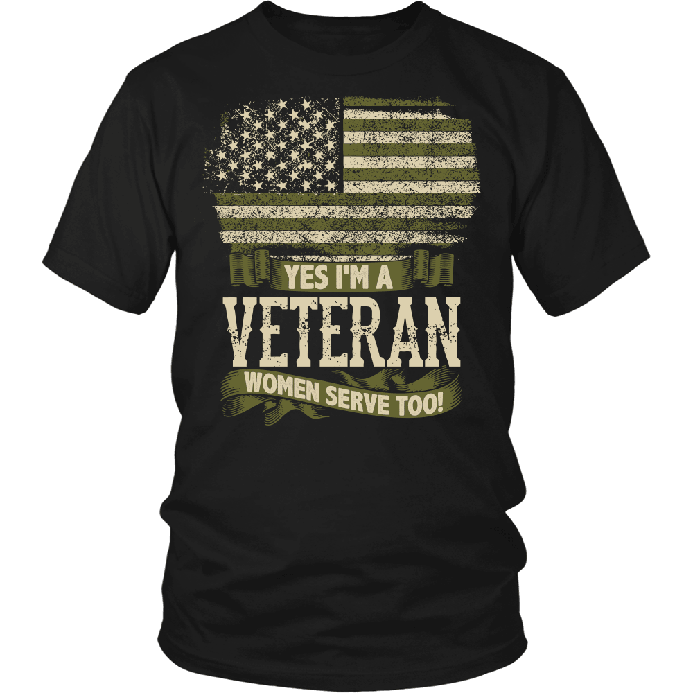 Veteran T-Shirt Design - Veteran Women Serve Too