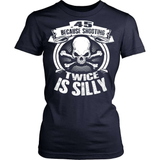 Gun T-Shirt Design - .45 Because Shooting Twice Is Silly!