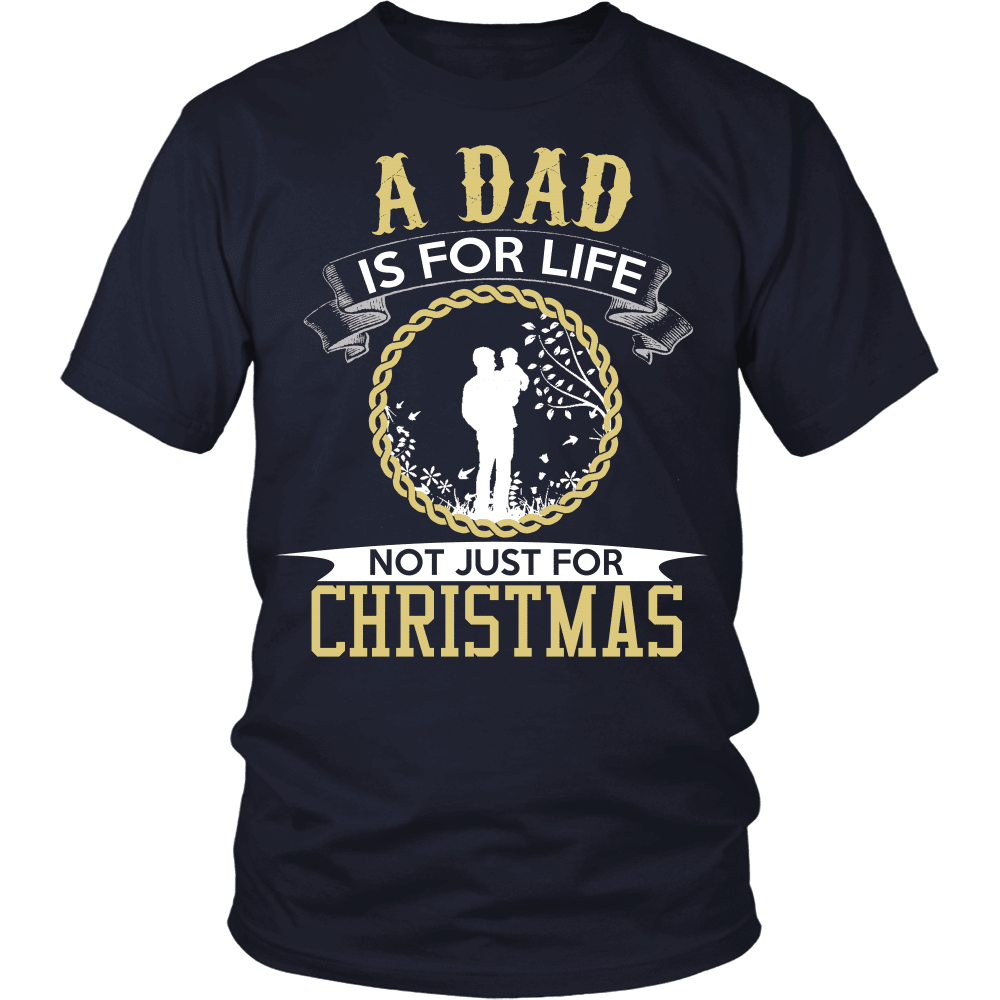 Christmas T-Shirt Design - Dad Is For Life