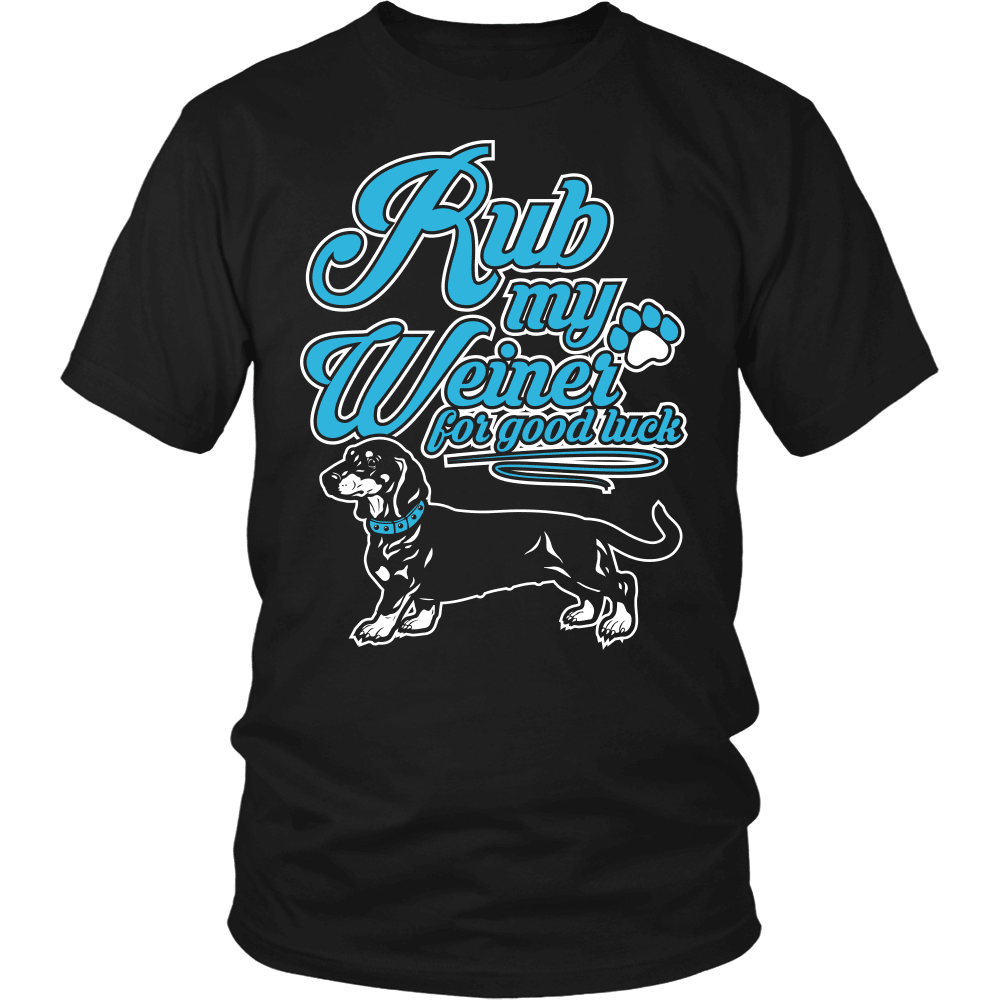 Dachshund T-Shirt Design- Rub My Weiner