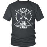 Gun T-Shirt Design - 40-70 The Only Government I Need!