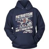 Gun T-Shirt Design - Patriotism Is Love Of Your Country