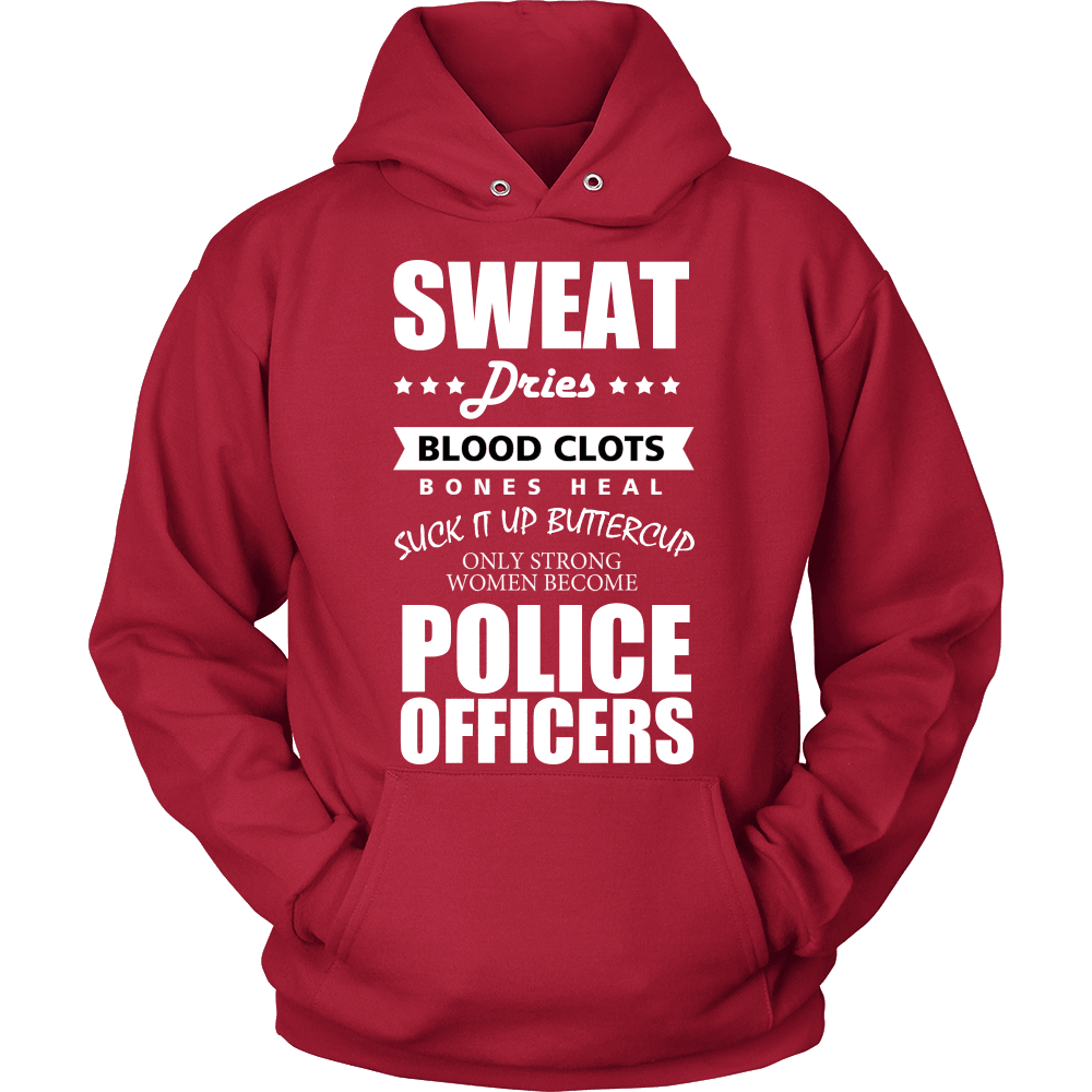 Police T-Shirt Design - Only Strong Women