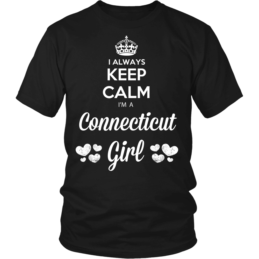 Connecticut T-Shirt Design - Keep Calm I'm A Connecticut Girl