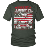 Gun T-Shirt Design - Does My American Flag Offend You?
