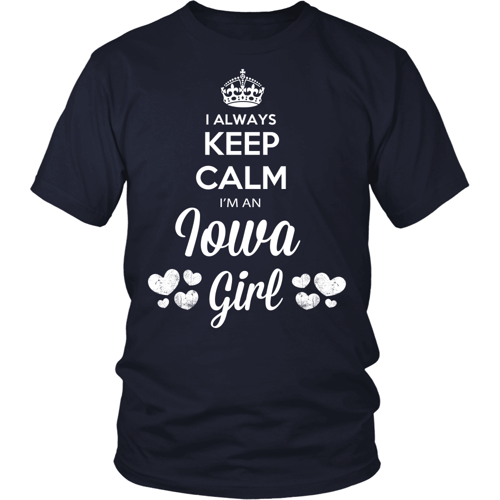 Iowa T-Shirt Design - Keep Calm I'm An Iowa Girl