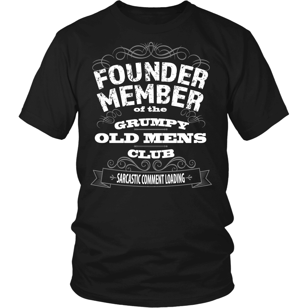 Grandparent T-Shirt Design - For Grumpy Old Men Only