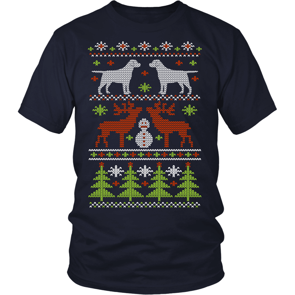 Christmas Dog T-Shirt Design