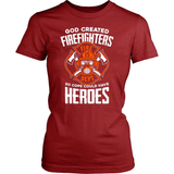 Firefighter T-Shirt Design - God Created.