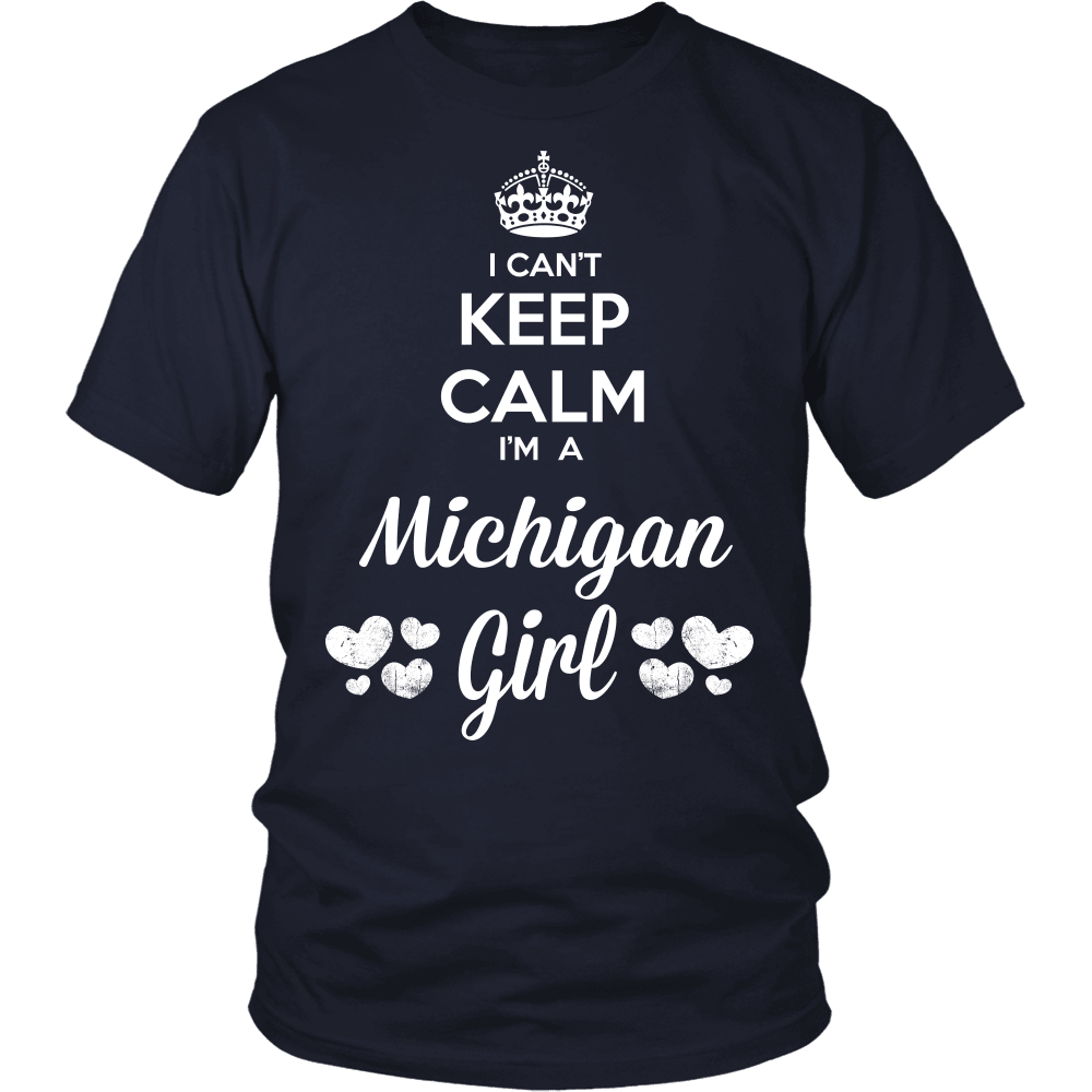 Michigan T-Shirt Design - Can't Keep Calm Michigan Girl
