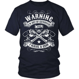 Gun T-Shirt Design - Warning I Have A Gun