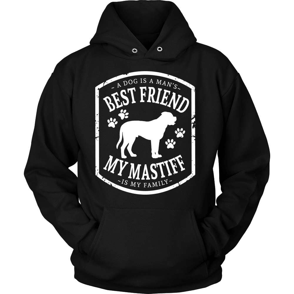Mastiff T-Shirt Design - My Family