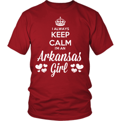 Arkansas T-Shirt Design - Keep Calm I'm An Arkansas Girl
