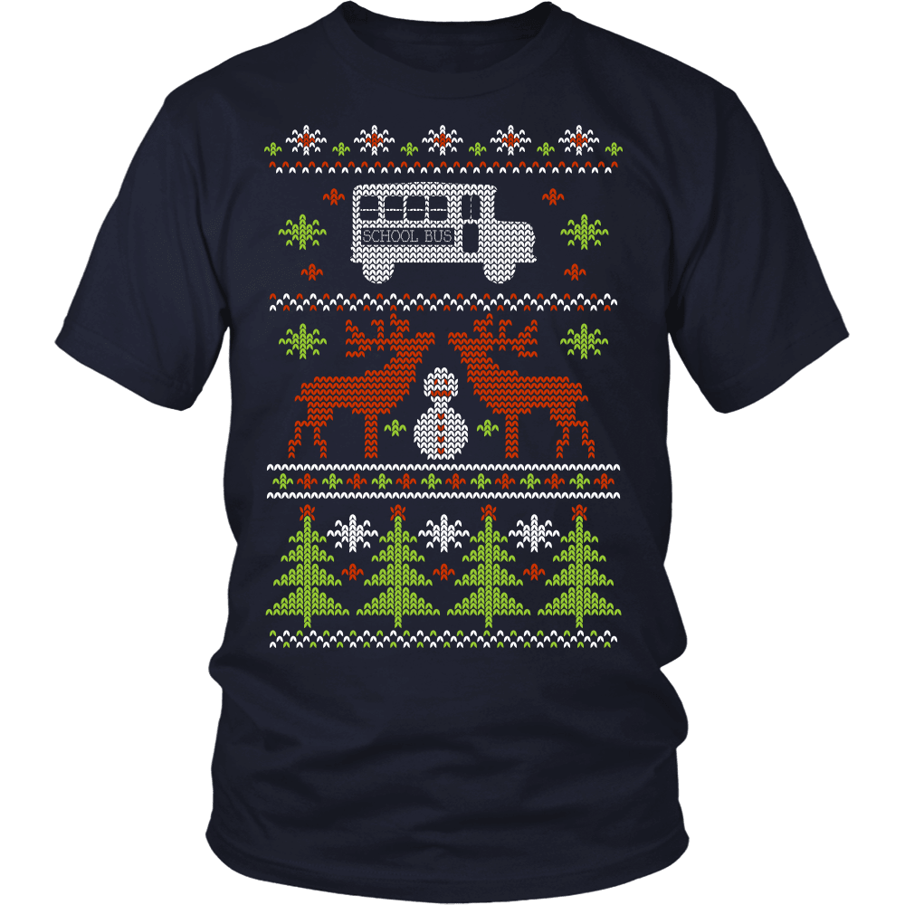 Christmas School Bus Driver T-Shirt Design