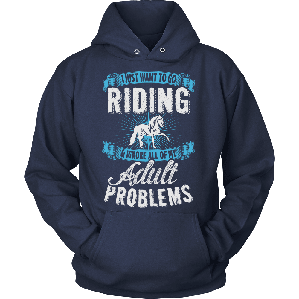 Horse T-Shirt Design - Just Want To Go Riding