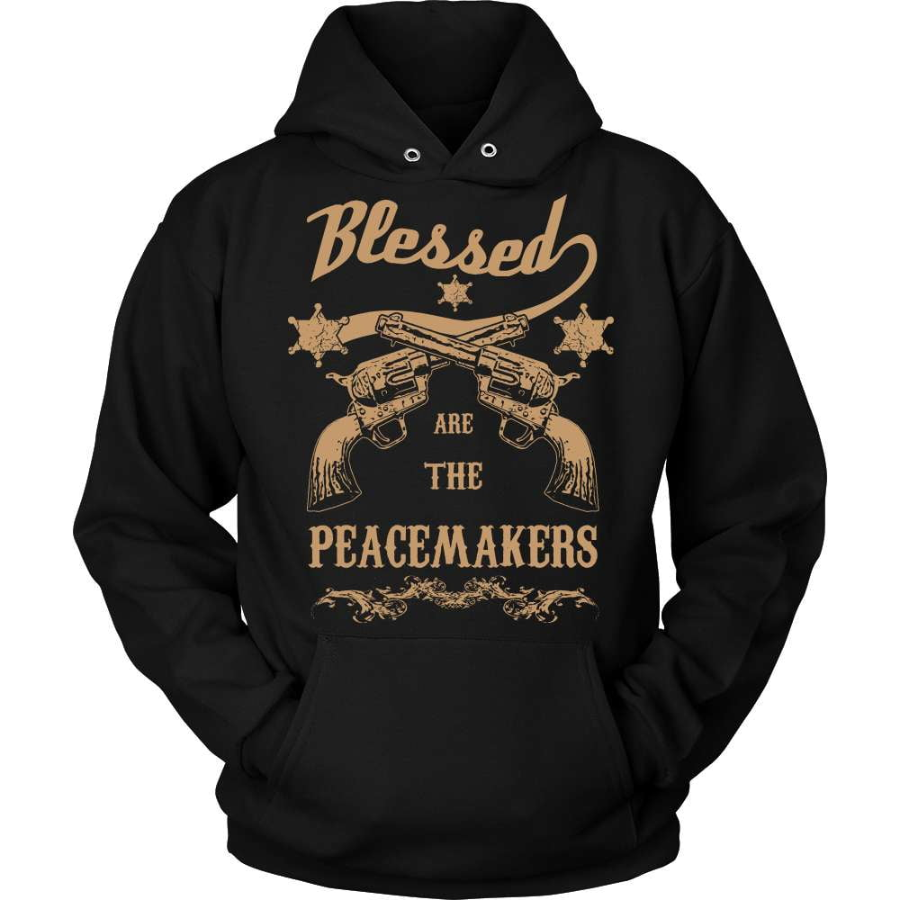 Gun T-Shirt Design - Blessed Are The Peacemakers! - snazzyshirtz.com