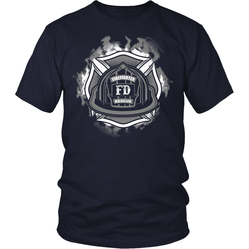 Firefighter T-Shirt Design - FD Rescue