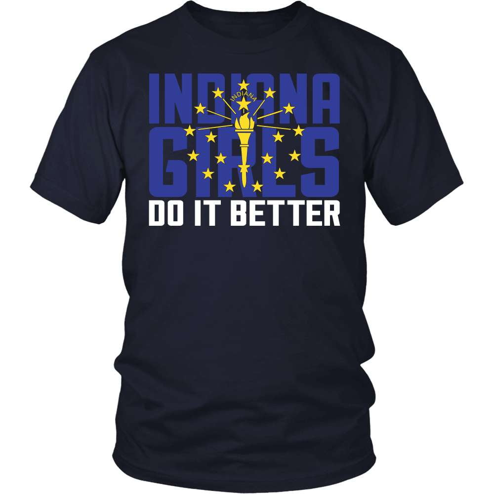 Indiana T-Shirt Design - Indiana Girls Do It Better
