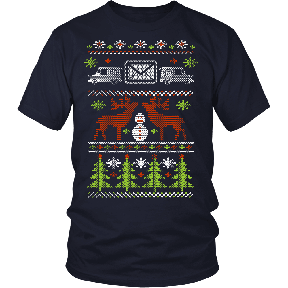 Christmas Mail Carrier T-Shirt Design