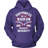 Gun T-Shirt Design - Happiness Is A Warm Gun!