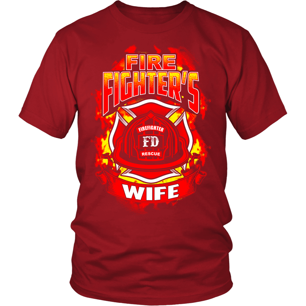Firefighter T Shirt Design Fire Wife Snazzyshirtz