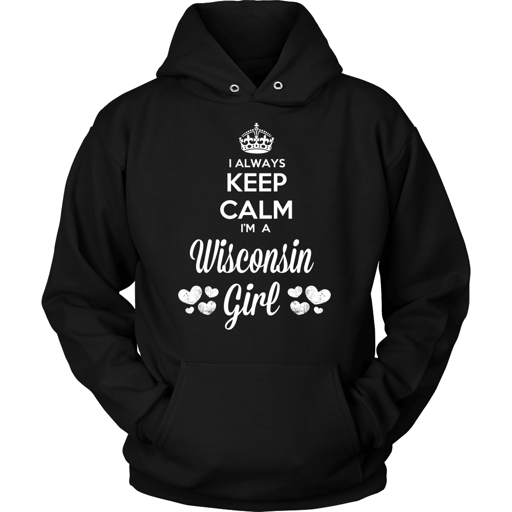 Wisconsin T-Shirt Design - Keep Calm I'm A Wisconsin Girl