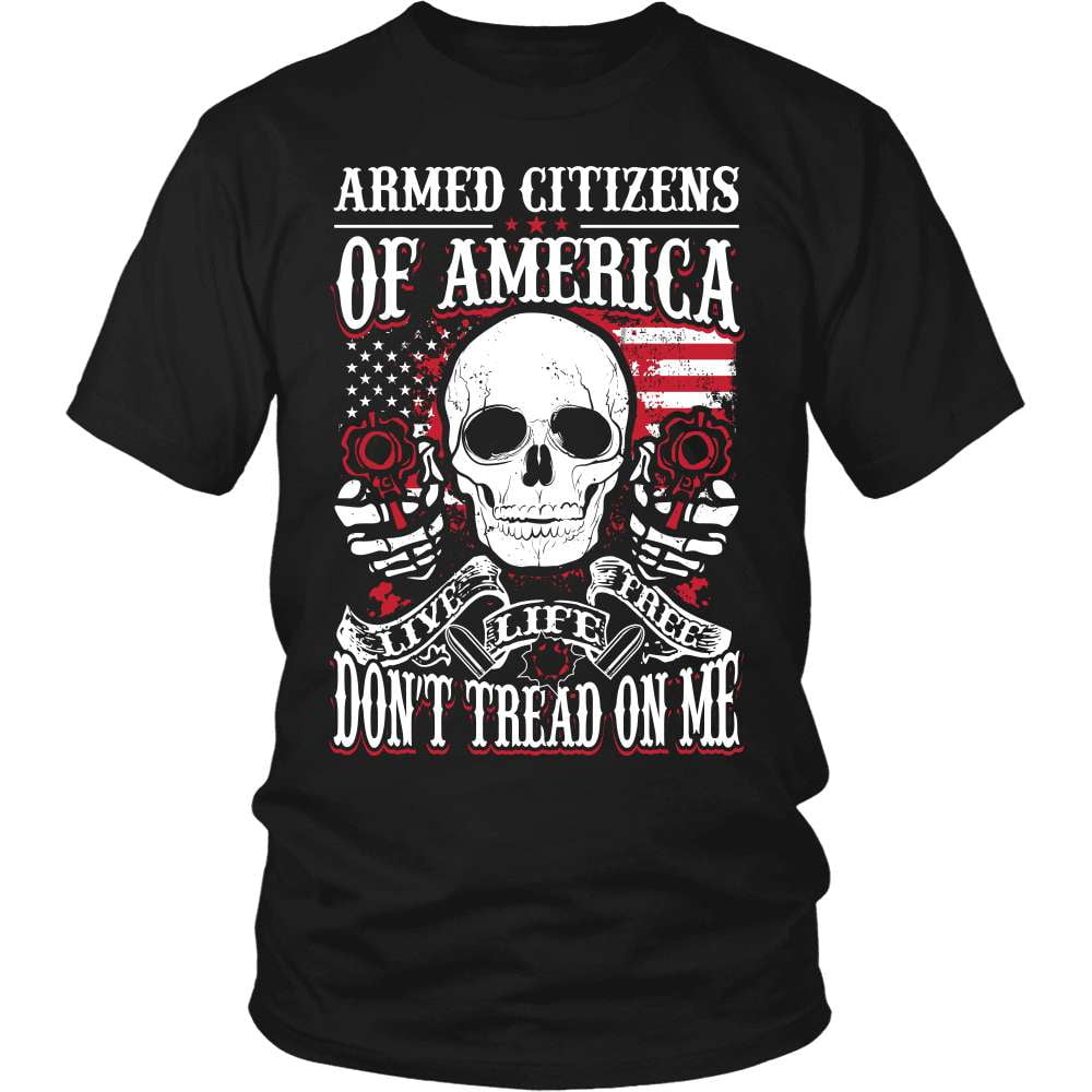 Gun T-Shirt Design - Armed Citizens Of America! - snazzyshirtz.com