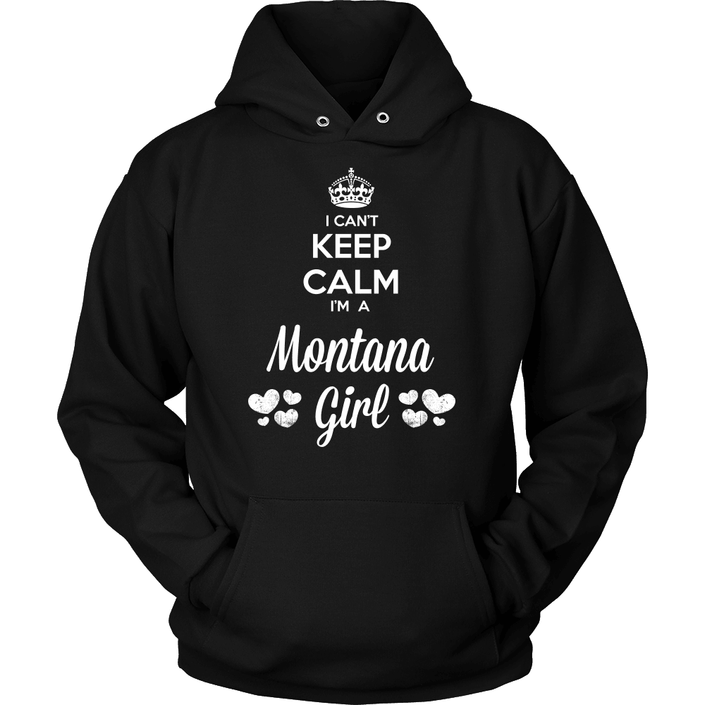 Montana T-Shirt Design - Can't Keep Calm Montana Girl