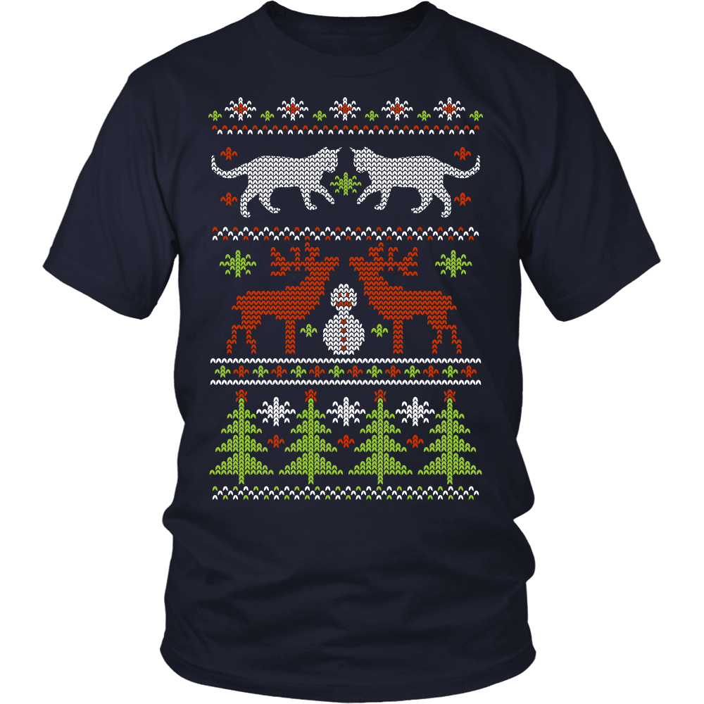 Christmas Cat T-Shirt Design