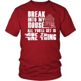 Gun T-Shirt Design - Break Into My House