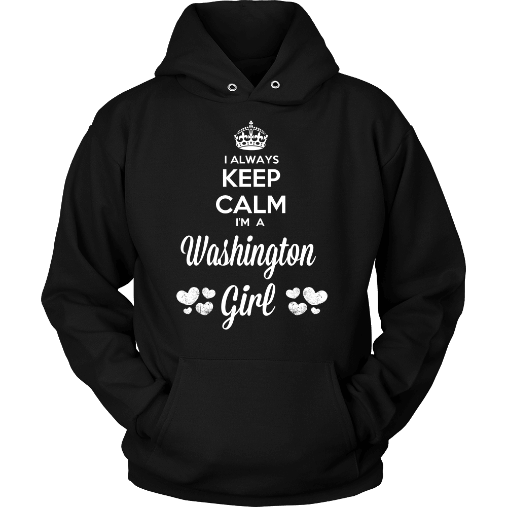 Washington T-Shirt Design - Keep Calm I'm A Washington Girl