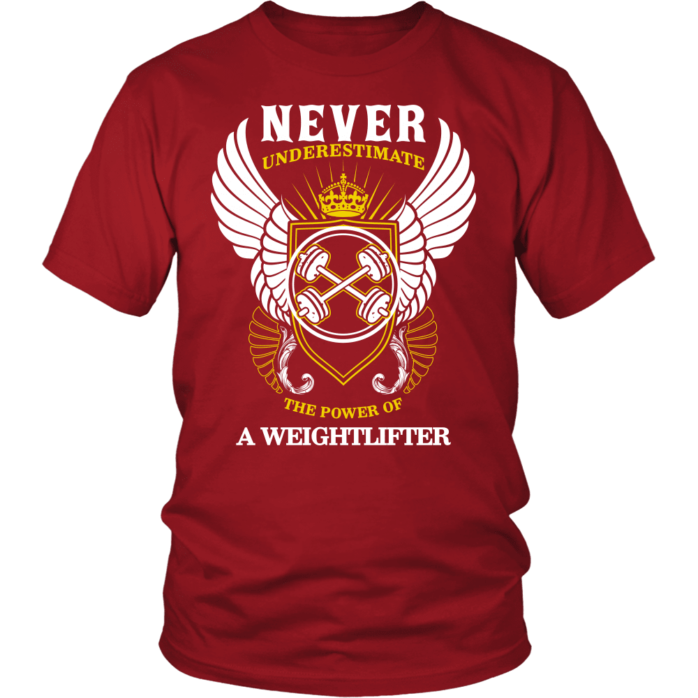 Fitness T-Shirt Design - The Power Of A Weightlifter
