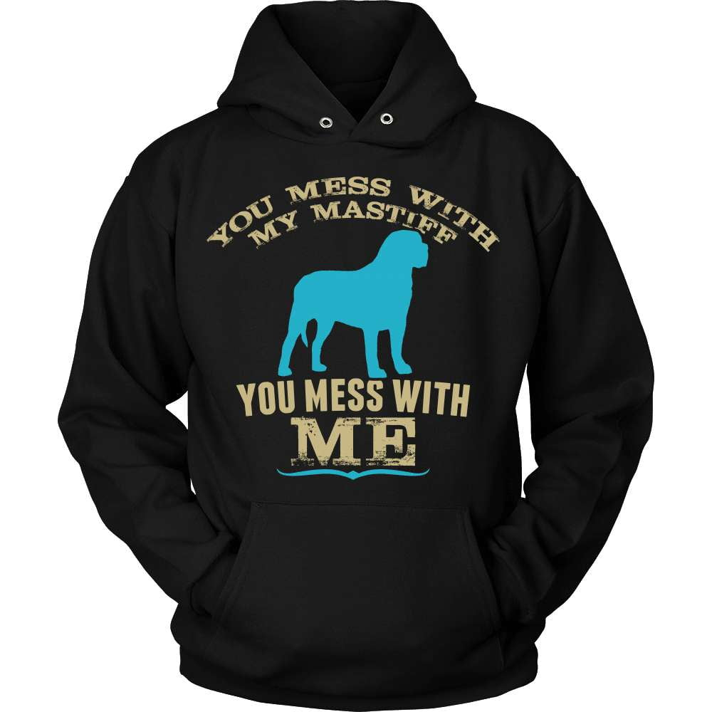 Mastiff T-Shirt Design - Mess With My Mastiff
