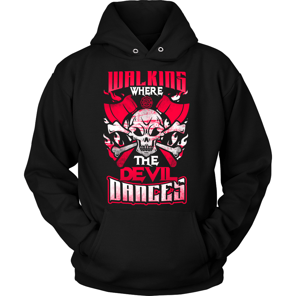 Firefighter T-Shirt Design - Walking Where The Devil Dances