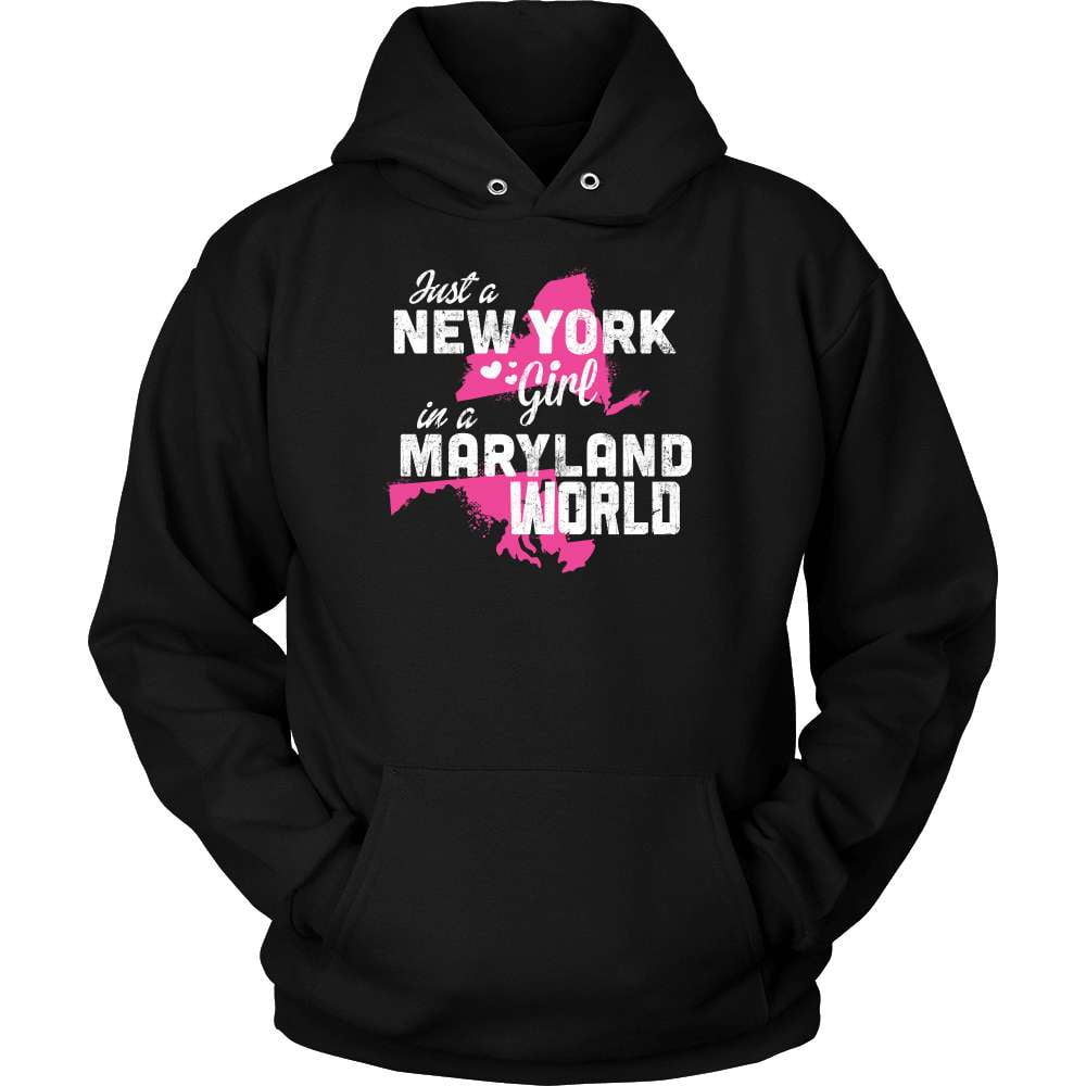 New York T-Shirt Design - New York Girl Maryland World - snazzyshirtz.com
