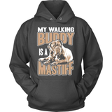 Mastiff T-Shirt Design - My Walking Buddy