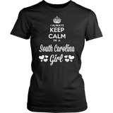 South Carolina T-Shirt Design - Keep Calm I'm A South Carolina Girl