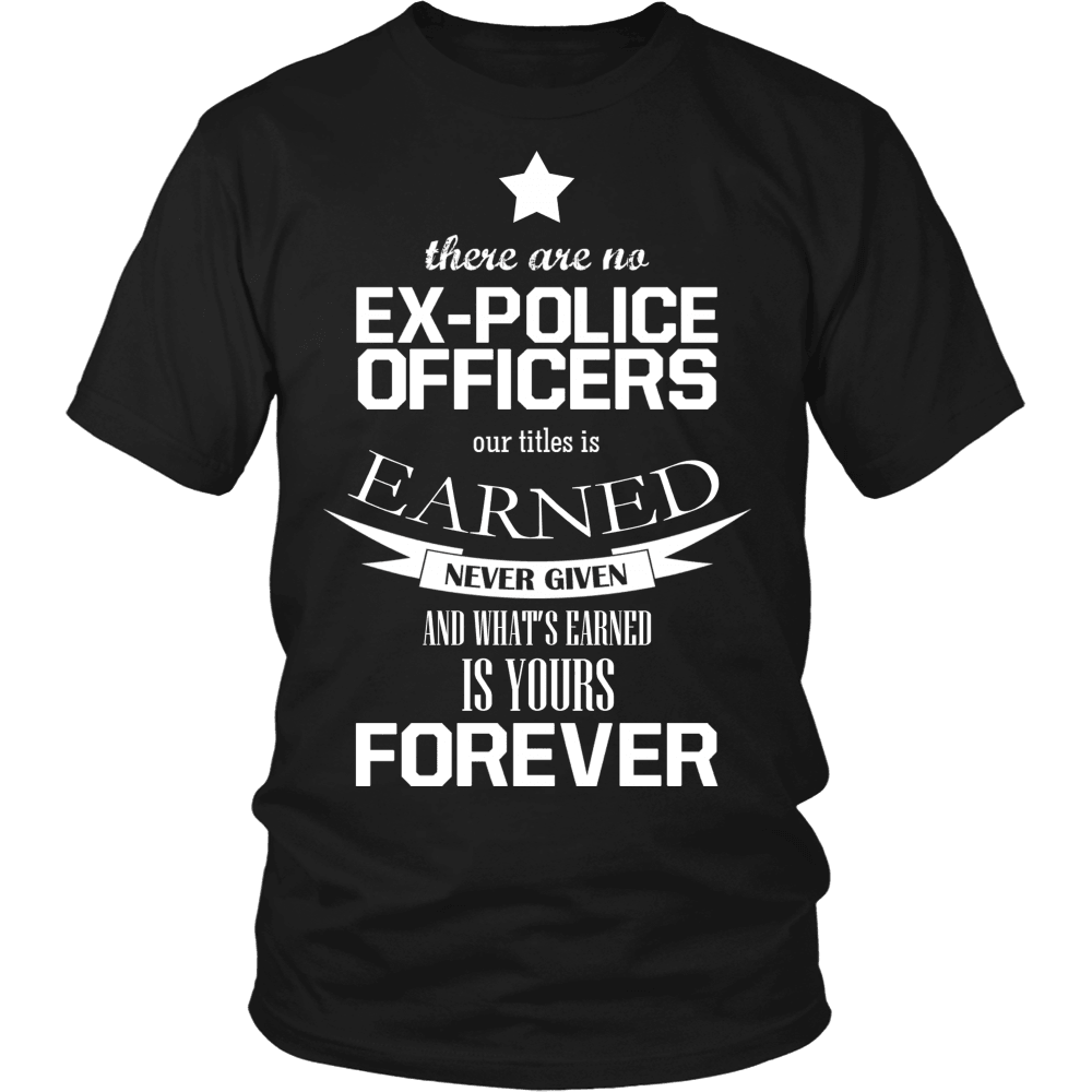 Police T-Shirt Design - Ex-Police Officer