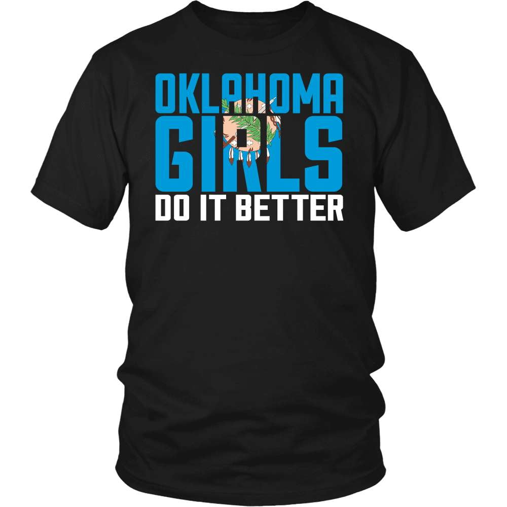 Oklahoma T-Shirt Design - Oklahoma Girls Do It Better